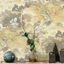 ARCHIVES ORIENTAL LANDSCAPE WALLPAPER YELLOW - CROWN M1192 CHINA TEMPLES