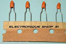 Condensateur 1 uF 35 V Tantale Pas 5 mm (en bande)  lot de 4