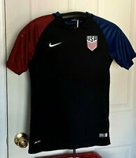 USA Soccer Team Nike Youth Jersey  2016 Dri-Fit Black Red Blue Sz Lg Used