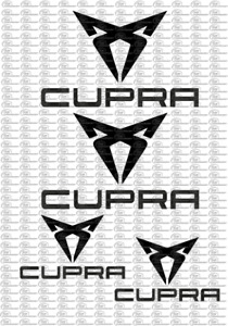 Cupra Seat Leon Ibiza Aufkleber Sticker Schriftzug Emblem Logo Set 8 Teilig