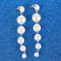 Fashion Womens Circle Pendant Dangle Drop Statement Earrings Jewelry JA