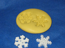 Snowflakes 2 Push Mold Flex Candy Food Safe Silicone #259 Cake Fondant