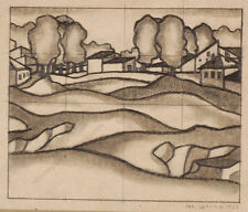 "Josef Lacina (b. 1899) ""Art Deco Landscape Study"", 1927"