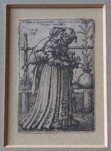 Hans Sebald Beham – Death and the Lady – Original 1541 Old Master engraving