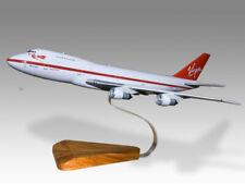 Boeing 747-200 Virgin Atlantic Solid Wood Handcrafted Airplane Desk Model