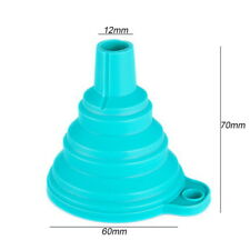 US Kitchen Mini Funnel Silicone Gel Foldable Collapsible Funnelper Tool New 34