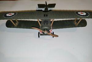 British De Havilland WW2 Pewter Model Plane Fast Free Shipping Green Plastic