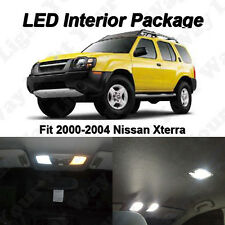 8 x White LED Interior Bulbs + License Plate Lights For 2000-2004 Nissan Xterra