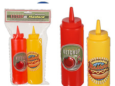 Retro Diner Condiment Dispenser - Ketchup Mustard Red Sauce Kitchen Restaurant