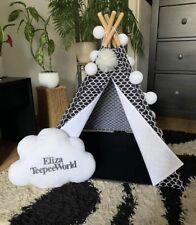 ❤️Dogs 🐶cats 🐱teepee 100 % Cotton pets play house 🐾 handmade tipi with mat 🐾