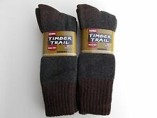 Timber Trail Made In USA Merino Wool Blend Crew Socks Size 10-13 Four Pairs