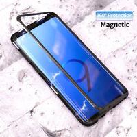 Aluminum Metal Magnetic Adsorption Flip Phone Case For Samsung Galaxy S8 S9 Plus