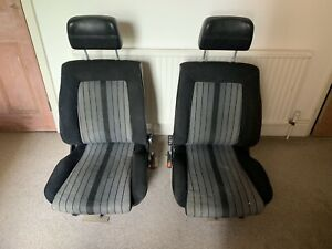 Mk1 Golf GTI front seats, black and grey