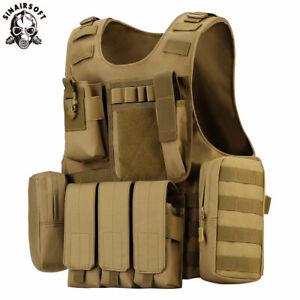 Tactical Amphibious Combat Vest Molle Waistcoat Assault Plate Carrier CS SWAT AU