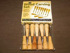 CARPENTER WOOD WORKING CHISEL TOOLS 11 PIECE WOOD CARVING SET in BOX