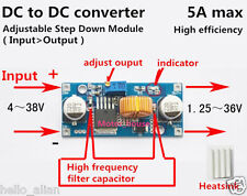5A DC-DC Buck Step Down Converter Voltage Regulator 5V-36V to 3.3V 6V 9V 12V 24V