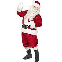 Jolly Old St. Nick Premium Adult Men's Santa Claus Suit, Deluxe Costume