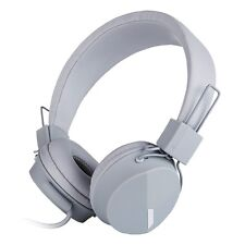 RockPapa OverEar Kids Girls Boys Childrens Foldable Headsets Headphones Mic Grey