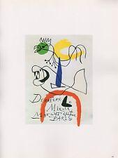 """1989 VINTAGE """"DERRIERE LE MIROIR"""" JOAN MIRO MOURLOT MINI POSTER COLOR Lithograph"""