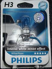 Philips H3 whitevision Intenso Blanco Xenón Efecto sola actualización Bombilla 4300k H3