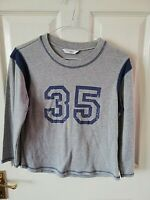 "NEW LOOK WOMENS GREY "" 35 "" TOP SIZE 14 LONG SLEEVE PIT TO PIT 18 LENGTH 21 INCH"