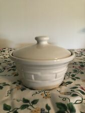 Longaberger Small Covered Dish - Heirloom Ivory - Usa!