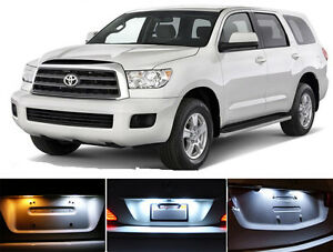 Xenon White License Plate / Tag 168 LED light bulbs for Toyota Sequoia (2Pcs)