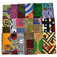 Random 10 Fabric Fat Eighth Bundle African Quilt Mixed Ankara Print Craft WB166