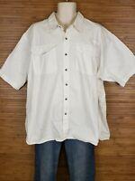Wrangler White Short Sleeve Button Front Shirt Mens Size 3XL