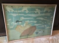"""MILTON AVERY (1885-1965),"""" Fisherman"""", Framed, Signed ABSTRACT LITHOGRAPH 1950"""