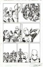 SPIDER-MAN, DEADPOOL (AFTER DITKO) P 18 ORIGINAL ART-SCOTT KOBLISH-FREE SHIPPING