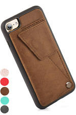 IPhone 7 / 8 Wallet Case, ZVE Leather Ultra Durable Protective Card Holder Cases
