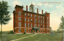 Bates College Lewiston Maine Science Hall Building Postcard 1911 Postmark