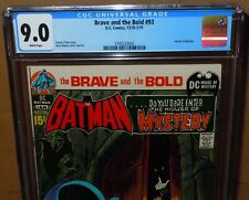 💎Brave and the Bold #93 CGC 9.0 (VF/NM) White pages DC Comics Batman Neal Adams