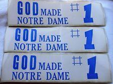 Vtg Bumper Sticker Lot GOD Made Notre Dame #1