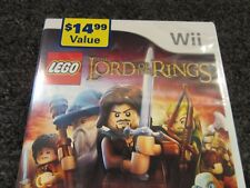 SEGA WII VIDEO GAME LEGO THE LORD OF THE RINGS NINTENDO 2012 WB NEW SEALED