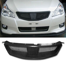 For Subaru Legacy 2008-12 Carbon Fiber Mesh Style Front Grill Upper Hood Grilles