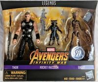 "Marvel Legends Thor Rocket Raccoon & Groot 6"" Action Figure 3 Pack TRU Exclusive"