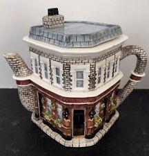 EastEnders Queen Vic Pub Ornamental Ceramic Teapot (1990s, Annie Rowe) New Boxed