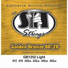 SIT Strings GB1252 Golden Bronze 80/20 Light Strings (12-52) for sale