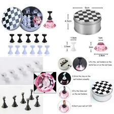 1 Set Nail Art Tips Holder Practice Display Stand, Kalolary Magnetic Stuck Cryst