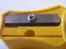 Taille crayon manuel en plastique jaune KUM LONG POINT 202 cab/Pencil Sharpener
