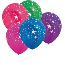 Lot de 10 Ballons diametre 30 cm étoiles multicolores circ. 105 decorations