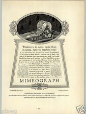 1927 PAPER AD Mimeograph Machine Abe Lincoln Bust Commercial Printing Award