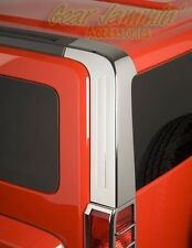 HUMMER H3 CHROME REAR PILLAR COVERS trim overlay caps