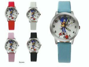 Sonic The Hedgehog Wrist Watch Children Boy's Girl's Gift Party Stocking