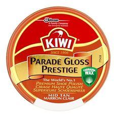 Kiwi parade gloss prestige mid tan cirage premium cire chaussure army boot polonais