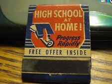 Vintage Unused High School At Home Matchbook