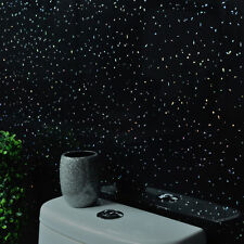 10 Black Sparkle Glitter Wall Panels PVC Bathroom Cladding Shower Wet Wall Gloss