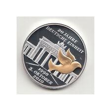 BRD Medaille 20 Jahre deutsche Einheit/Deutschlandkarte 2010 Nr.49/4/17